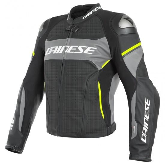 Chaqueta DAINESE Racing 3 D-Air Estiva Black / Harcoal Grey / Fluo-Yellow