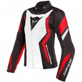 DAINESE Edge Tex Matt-Black / White / Lava-Red