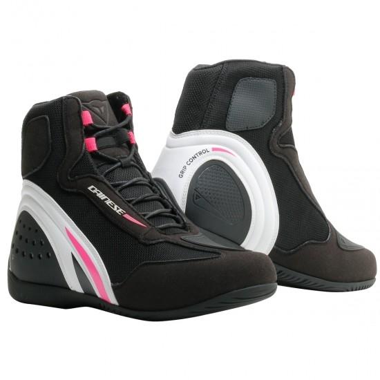 DAINESE Motorshoe D1 Air Lady Black / White / Fucsia Boots