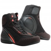 DAINESE Motorshoe D1 D-WP Black / Fluo-Red / Anthracite