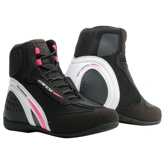 Stiefel DAINESE Motorshoe D1 D-WP  Lady Black / White / Fucsia
