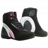 DAINESE Motorshoe D1 D-WP  Lady Black / White / Fucsia