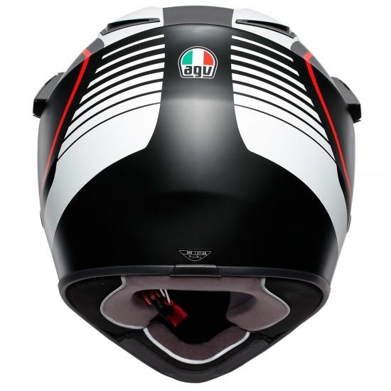 Helm AGV AX9 Pacific Road Matt Black / White / Red