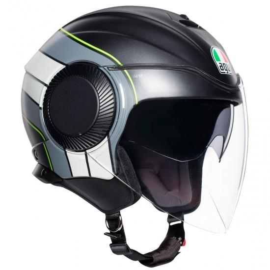 Helm AGV Orbyt Brera Matt Black / Grey / Yellow Fluo