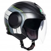 AGV Orbyt Brera Matt Black / Grey / Yellow Fluo