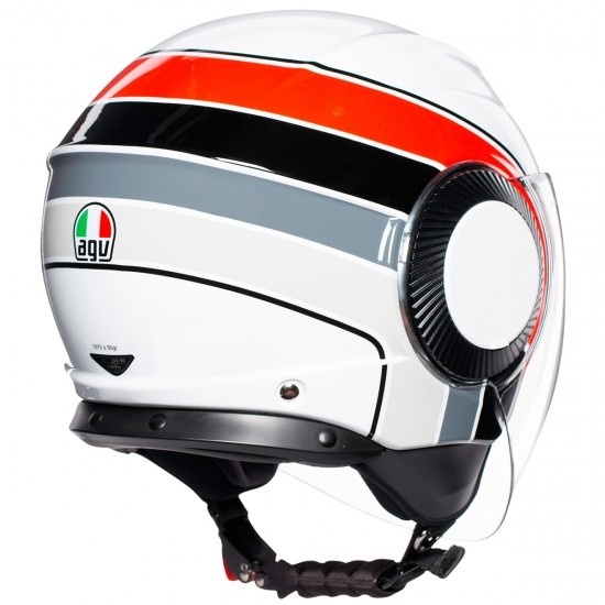 AGV Orbyt Brera White / Red / Grey Helmet