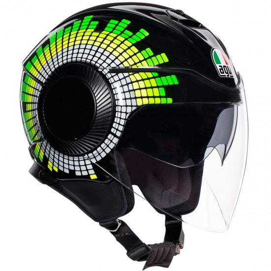 Helm AGV Orbyt Ginza Black / Yellow / Green