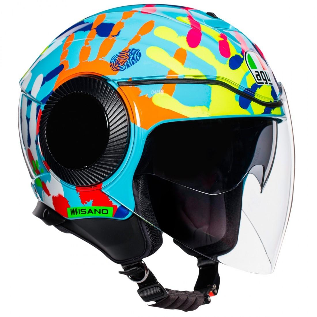 1e4bac5e7e7a AGV Orbyt Rossi Misano 2014 Helmet · Motocard