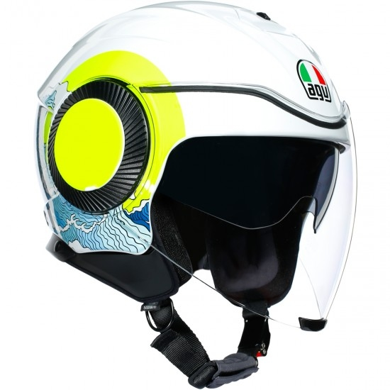 Helm AGV Orbyt Sunset White / Yellow Fluo