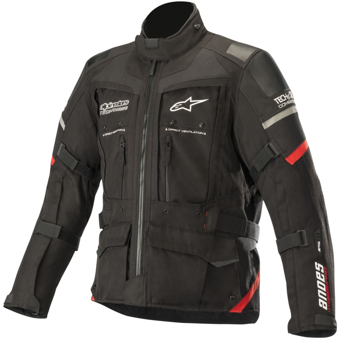 Alpinestars Motorcycle Jacket >> Alpinestars Andes Pro Drystar For Tech Air Black Red Jacket Motocard
