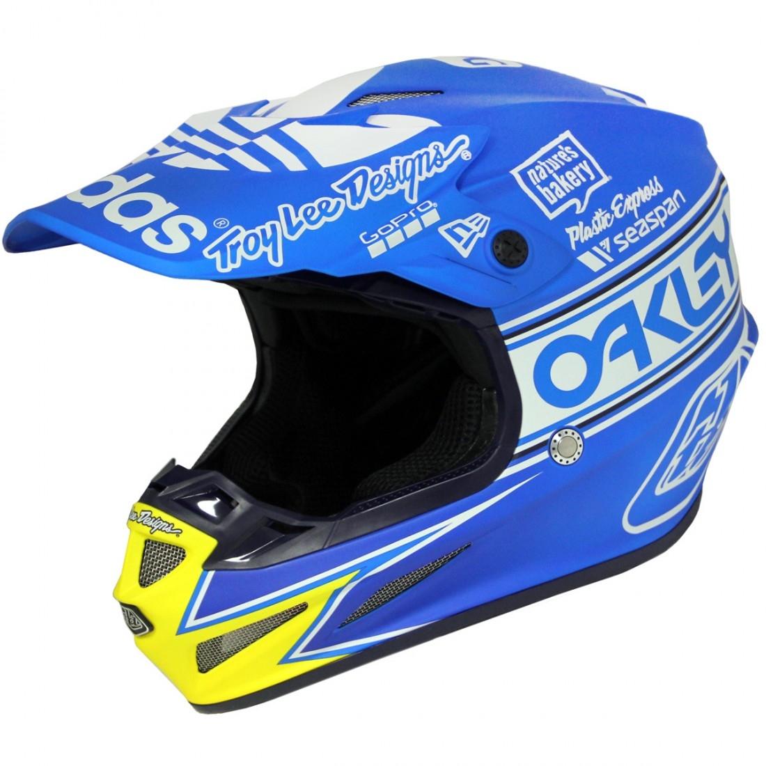 Troy Lee Designs Helmet >> Troy Lee Designs Se4 Composite Team Edition 2 Ocean Helmet Motocard