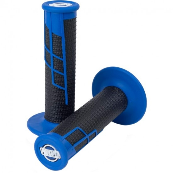 Puños PRO TAPER Clamp-On Grip Half Waffle Blue / Black