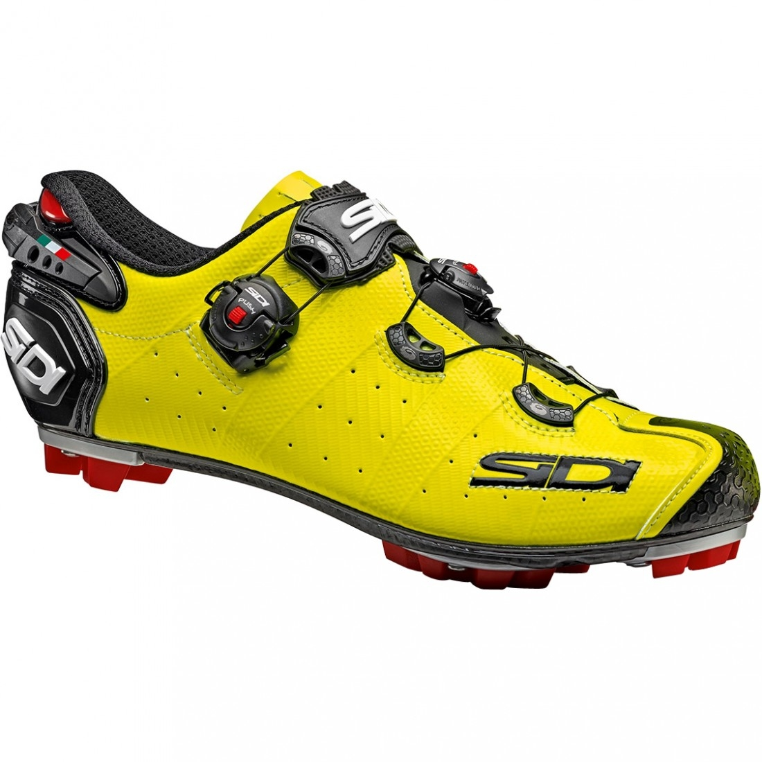 SIDI Drako Carbon SRS MTB Cycling Shoes Yellow Fluo//Black