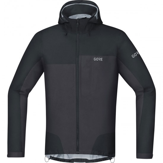 Chaqueta GORE C5 Gore-Tex Active Trail Hooded Black / Terra Grey