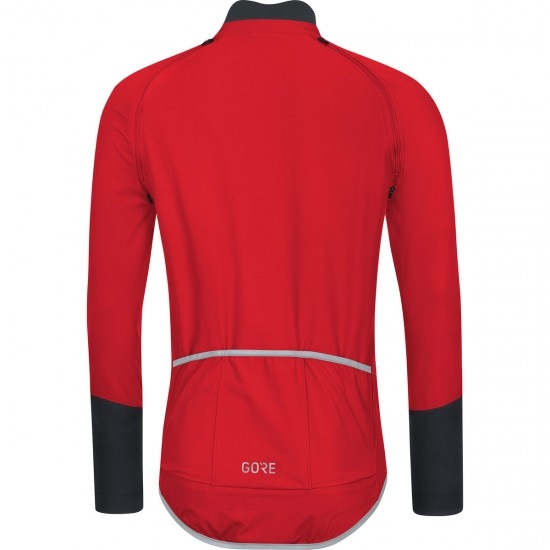 Maillot GORE C5 Gore Winstopper Zipp Off Red / Black