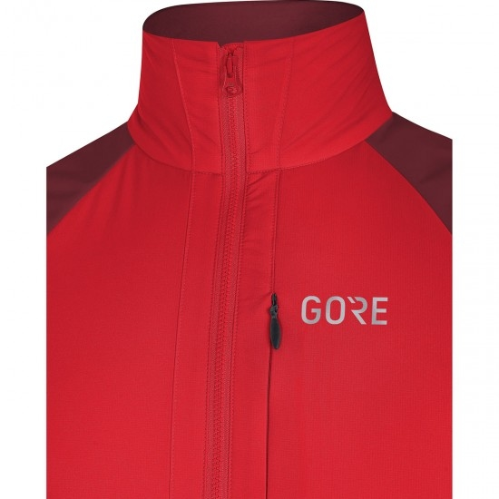 Casaco GORE C5 Partial Gore Windstopper Insulated Red / Chesnut Red