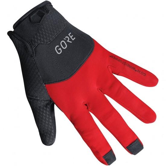 Guantes GORE C5 Gore Windstopper Black / Red