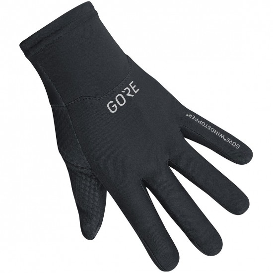 GORE M Gore Windstopper Black Gloves