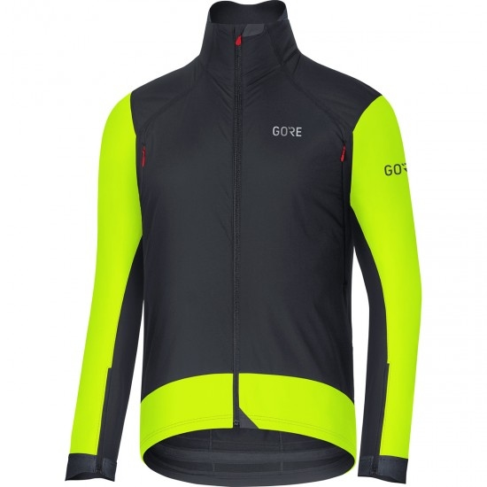 Jacke GORE C7 Gore Windstopper Pro Black / Neon Yellow