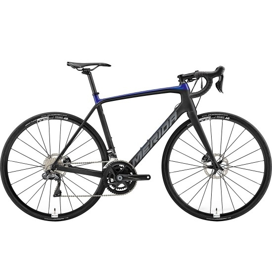 Bicicleta de carretera MERIDA Scultura Disc 7000 E 2019 Black / Blue