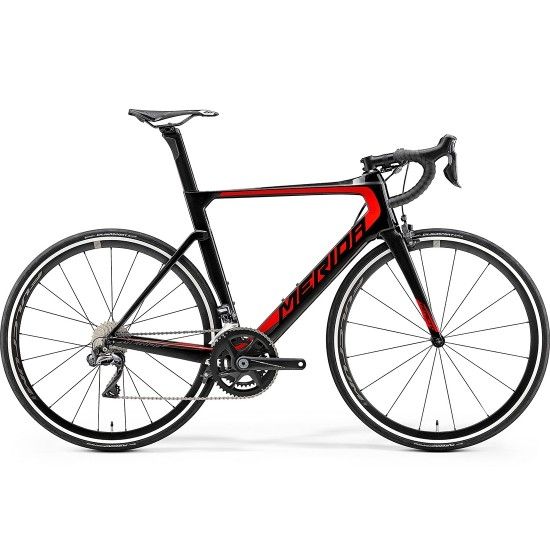 MERIDA Reacto 7000 E 2019 Black / Red Road bike