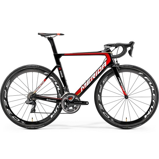 Bicicleta de carretera MERIDA Reacto Team E 2019 Black / Red / Gold