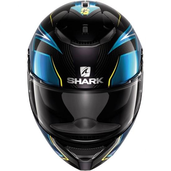 Casco SHARK Spartan Carbon 1.2 Replica Guintoli Carbon / Blue / Yellow