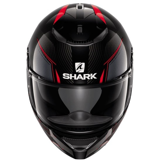 Casco SHARK Spartan Carbon 1.2 Silicium Carbon / Red / Anthracite