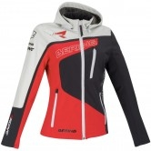 Softshell Racing Lady Black / White / Red
