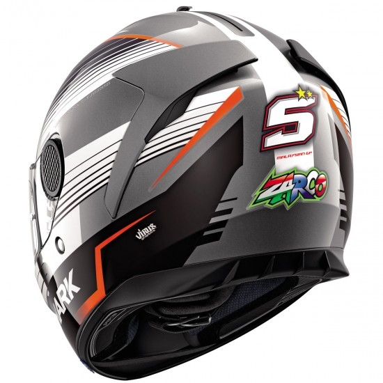Casco SHARK Spartan 1.2 Replica Zarco Malaysian GP Anthracite / White / Red