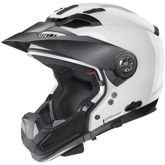 NOLAN N70-2 GT Classic N-Com Metal White Helmet