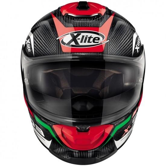 Helm X-LITE X-903 Ultra Carbon Cavalcade N-Com Carbon / Red