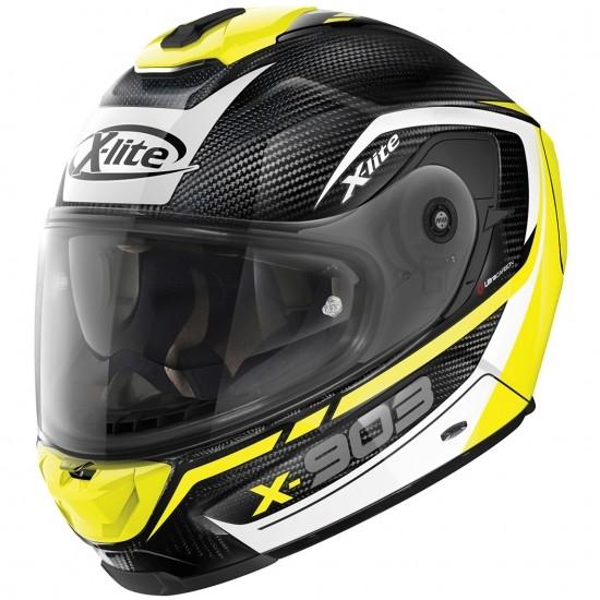 Helm X-LITE X-903 Ultra Carbon Cavalcade N-Com Carbon / Yellow