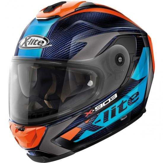 Helm X-LITE X-903 Ultra Carbon Nobiles N-Com Blue / Orange