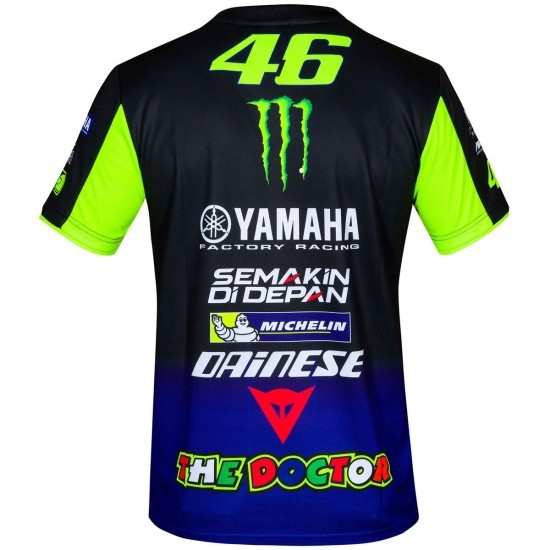 Maillot off road VR46 Replica Yamaha Rossi Blue