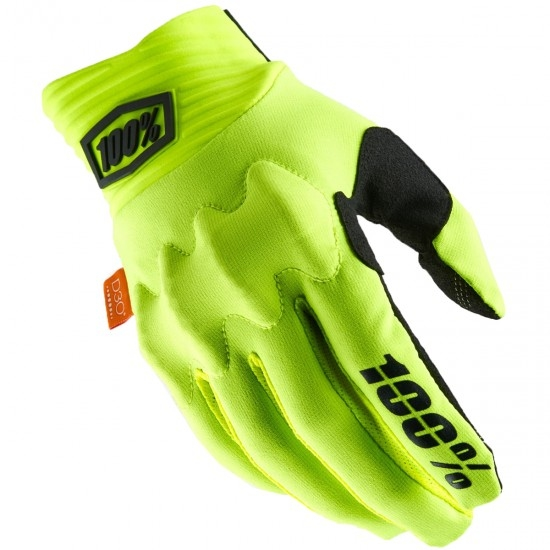 Gants 100% Cognito Fluo Yellow / Black