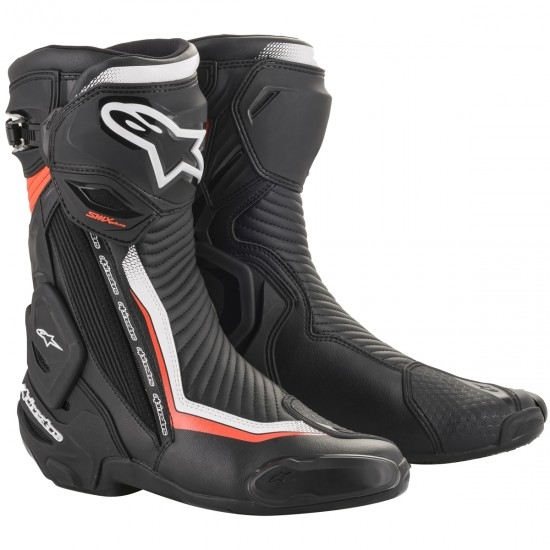 Stiefel ALPINESTARS SMX Plus V2 Black / White / Red Fluo