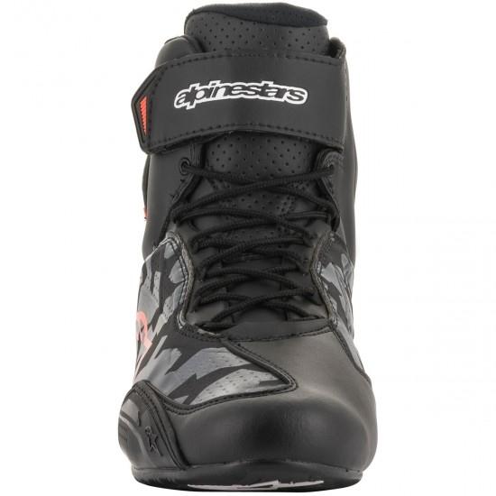 Stiefel ALPINESTARS Faster-3 Black / Grey Camo / Red Fluo