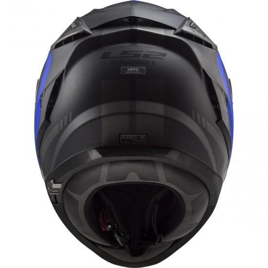 Casco LS2 FF327 Challenger Fusion Matt Titanium / Blue