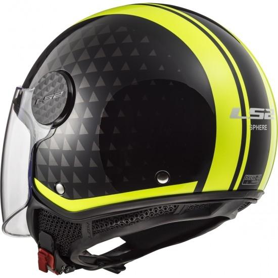 Casco LS2 OF558 Sphere Lux Crush Black / H-V Yellow