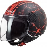 LS2 OF558 Sphere Lux Snake Matt Black / Red
