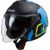LS2 OF573 Twister IIXover Matt Black / Blue