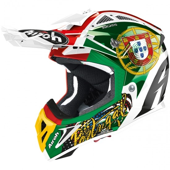 Casco AIROH Aviator 2.3 AMS2 Six Days 2020 Portugal Limited Edition