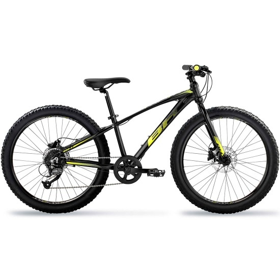 "Bicicleta de montanha BH Expert Junior 24"" Disc 2019 Black / Yellow"
