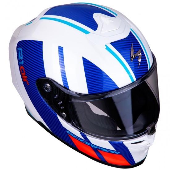 Helm SCORPION Exo-R1 Air Corpus White / Blue / Red