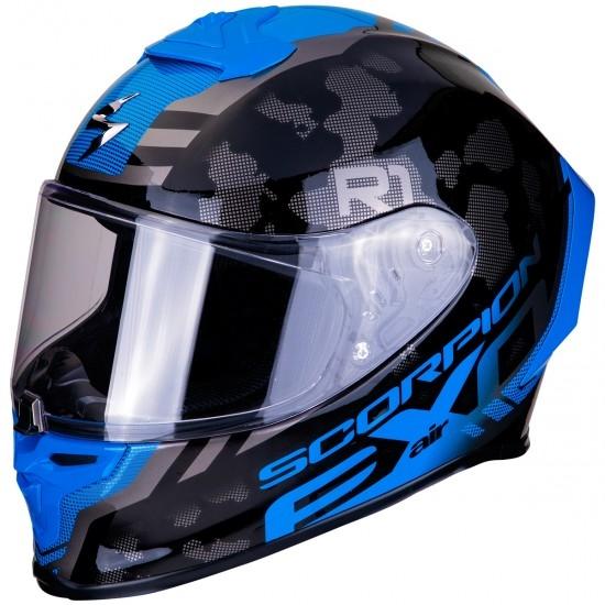 Helm SCORPION Exo-R1 Air Ogi Dark Silver / Blue