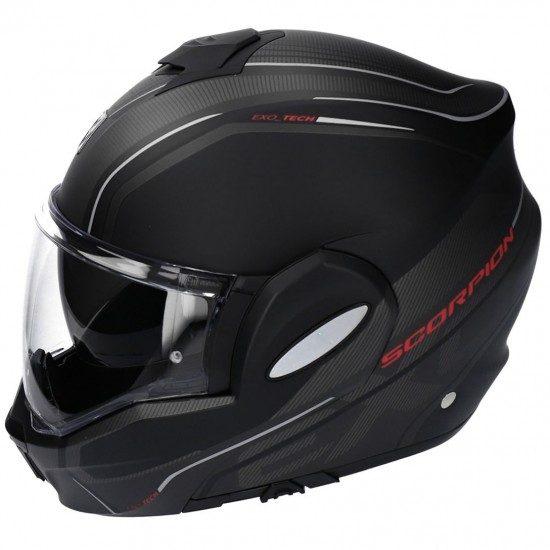 Casco SCORPION Exo-Tech Time-Off Black Matt / Red