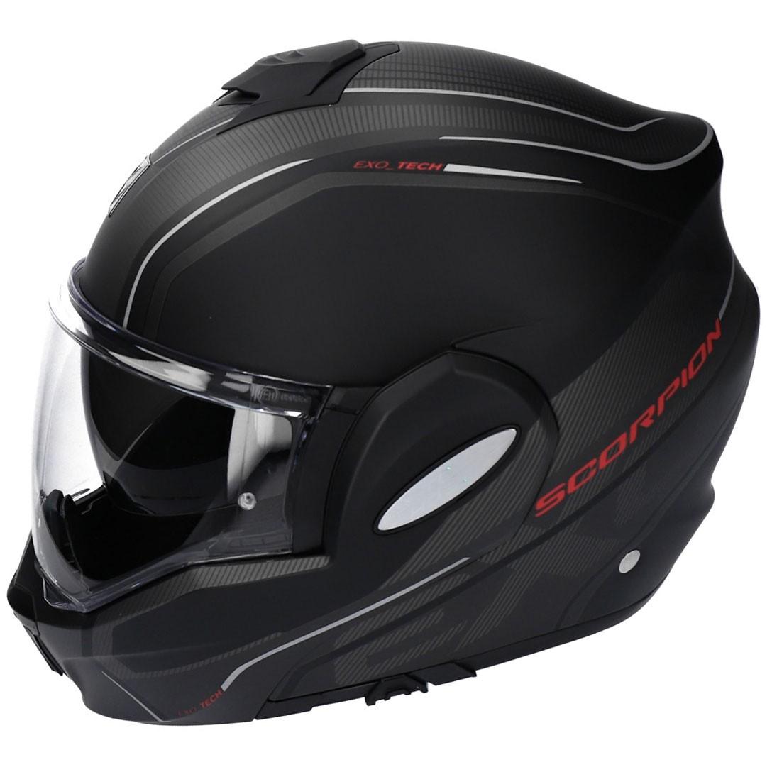 SCORPION Exo-Tech Time-Off Black Matt / Red Helmet