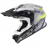 SCORPION Vx-16 Air Arhus Matt Silver / Black / Neon Yellow