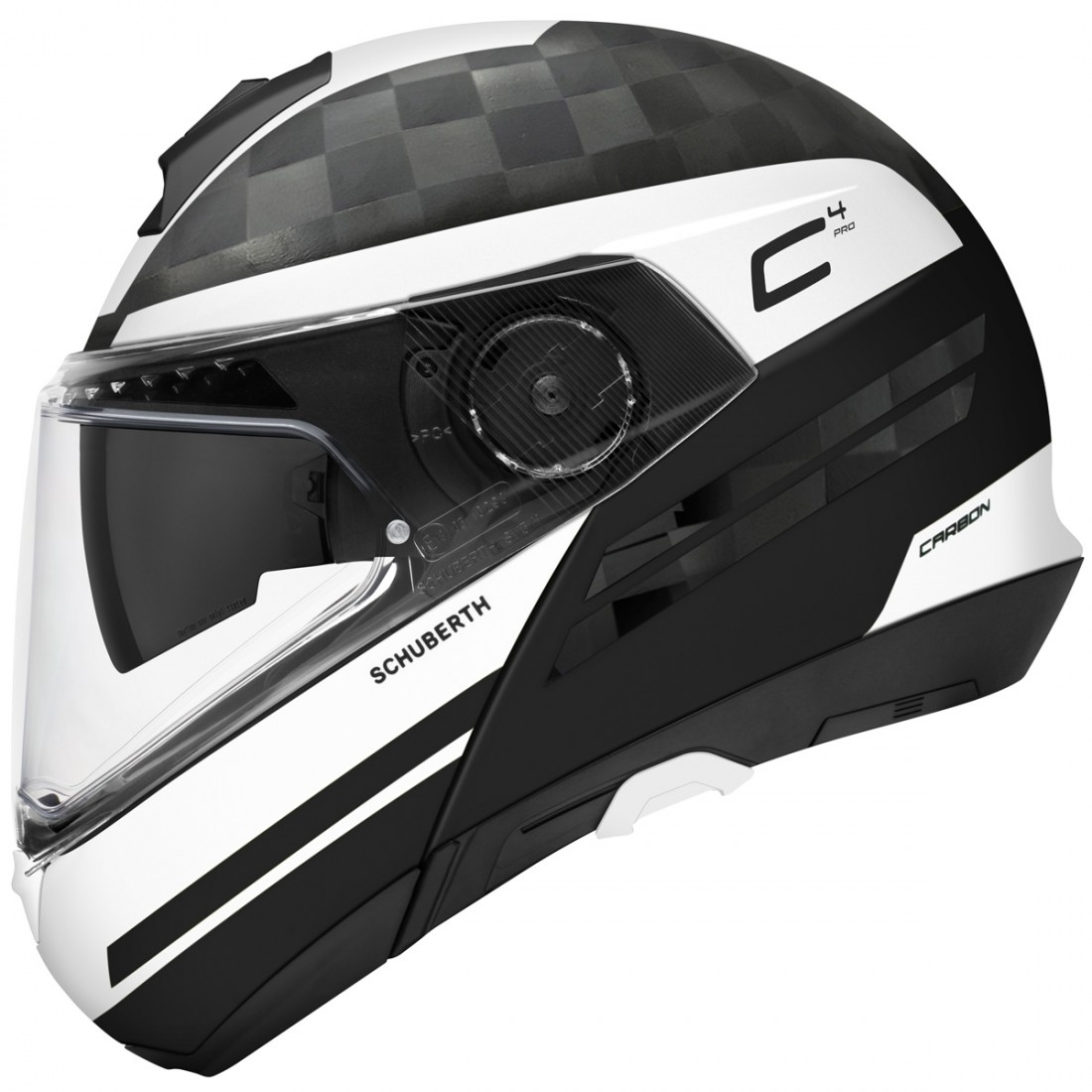 schuberth c4 pro carbon tempest white helmet motocard. Black Bedroom Furniture Sets. Home Design Ideas